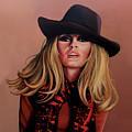 Brigitte Bardot Painting 1 by Paul Meijering