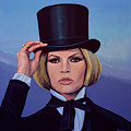 Brigitte Bardot Painting 2 by Paul Meijering