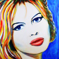 Brigitte Bardot Pop Art Portrait by Bob Baker