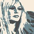 Brigitte Bardot Poster 2 by Ruta Naujokiene