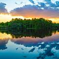 Brilliant Sunset by Benjamin Andersen