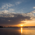 Brilliant Toronto Skyline Sunrise Over Lake Ontario by Georgia Mizuleva