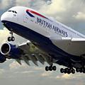British Airways Airbus A380 by J Biggadike