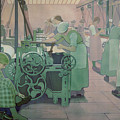 British Industries - Cotton by Frederick Cayley Robinson