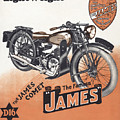 British James Comet Motorcycle  1948 by Daniel Hagerman
