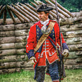 British Officer At Fort Ligonier 1758 by Randy Steele