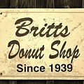 Britt's Donut Shop Sign 3 by Cynthia Guinn