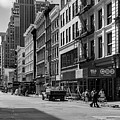 Broadway, New York In Black And White by Ruurd Dankloff