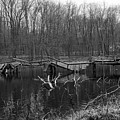 Broken Bridges In Black And White by Paul Ward