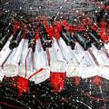 Broken Keys Red by Janee Alexander