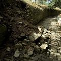 Broken Stone Wall Cascades Stones by Todd Gipstein