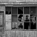 Broken Store Front Black White by Kevin Mitts