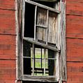 Broken Window Frame by Bob Phillips