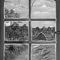 Broken Window In Black And White by Claude Beaulac