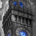 Bromo Seltzer Tower Baltimore - Blue  by Marianna Mills