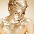 Bronze Gold Woman 1 by Tony Rubino