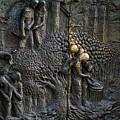 Bronze Sculptured Church Door - Slovenia by Stuart Litoff