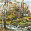 Brook In Autumn by Samuel Showman