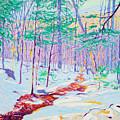 Brook In Winter, 1914 by Ambrose Webster