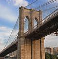 Brooklyn Bridge - Eastbound by Frank Mari
