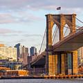 Brooklyn Bridge At Sunset by SR Green