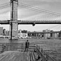 Brooklyn Bridge Bw by Andrew Kazmierski