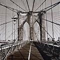 Brooklyn Bridge By Art Farrar Photographs, Ny 1930 by Robert Grubbs