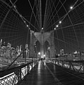Brooklyn Bridge Cables Skyline by Clint Buhler