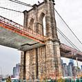 Brooklyn Bridge Close Up by Randy Aveille