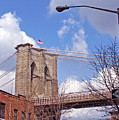 Brooklyn Bridge From Doughty Street by Frank Winters