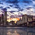 Brooklyn Bridge Manhattan Sunset by Alissa Beth Photography