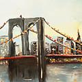 Brooklyn Bridge  by Miroslaw  Chelchowski