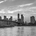 Brooklyn Bridge Monochrome Panoramic by Scott McGuire