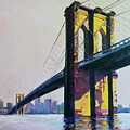 Brooklyn Bridge, N Y  by Eduard Zenuni