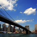 Brooklyn Bridge - New York City Skyline 2 by Frank Romeo