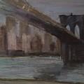 Brooklyn Bridge Painting by Gail Eisenfeld