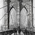 Brooklyn Bridge Promenade 1898 - New York by Daniel Hagerman