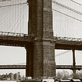 Brooklyn Bridge River Cafe by Christopher Kirby