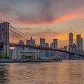 Brooklyn Bridge Summer Sunset by Scott McGuire
