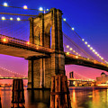 New York City Brooklyn Bridge Sunset by Christopher Arndt