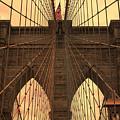 Brooklyn Bridge Sunset by Stephen Stookey