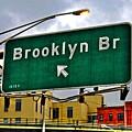 Brooklyn Bridge Thisaway by Randy Aveille