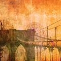 Brooklyn Bridge Vintage by Alex Antoine