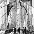 Brooklyn Bridge Vintage Photo Art by Karla Beatty