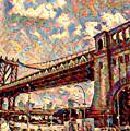 Brooklyn Bridge Watercolor by Bill Cannon