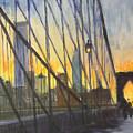 Brooklyn Bridge Wires by Gail Eisenfeld