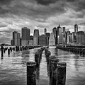 Brooklyn Pilings Bw by Michael Ver Sprill