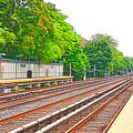 Brooklyn Subway Train Station 1 by Jeelan Clark