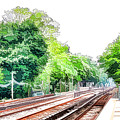 Brooklyn Subway Train Station 3 by Jeelan Clark