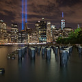Brooklyn Waterfront Memorial Tribute Lights by Alissa Beth Photography